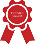 Our service is first class!